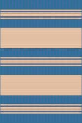 Spinnaker Stripe Blue Outdoor Rug (1'11 x 7'6) - Thumbnail 2