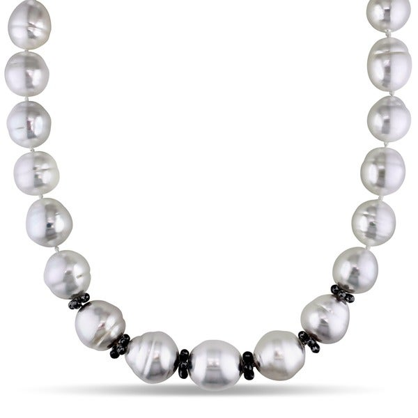 Miadora Signature Collection South Sea Pearl 12 5/8ct TDW Diamond Necklace (14-18 mm) (H-I-J, I1-I2)