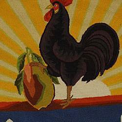 Safavieh Hand-hooked Vintage Poster Wool Rug (4' Round)