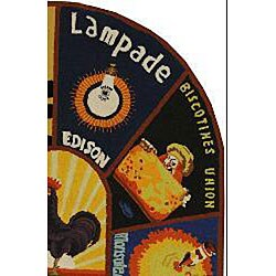 Safavieh Hand-hooked Vintage Poster Wool Rug (4'6 x 6'6 Oval)