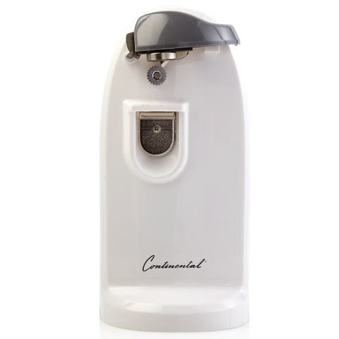 Continental Electric Extra Tall Can and Bottle Opener, White