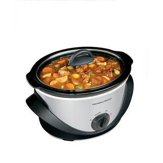 Hamilton Beach Silver 4 Quart Oval Slow Cooker