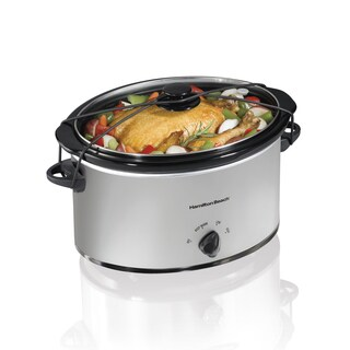 Hamilton Beach Silver 7 Quart Portable Slow Cooker