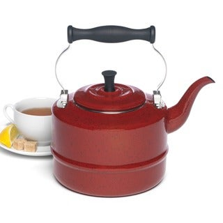 Paula Deen Signature Teakettles 2-quart Red Speckle Traditional Teakettle