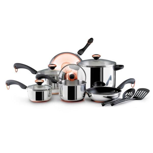 Shop Paula Deen Signature 12 Piece Copper Bottom Cookware Set Free