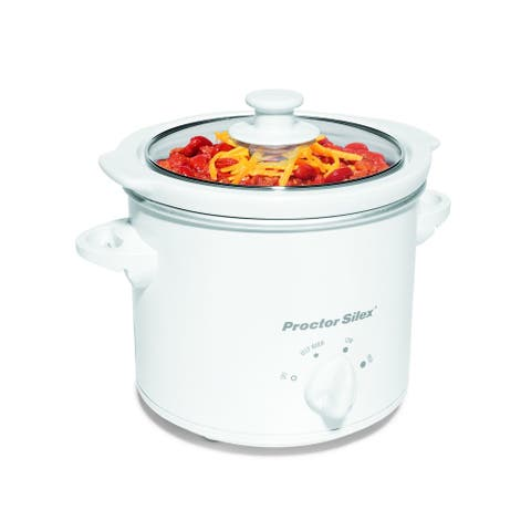 Proctor-Silex White 1.5 Quart Slow Cooker