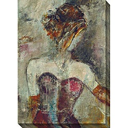 Gallery Direct Bellows 'Girl with Pearl Necklace' Oversized Canvas Art