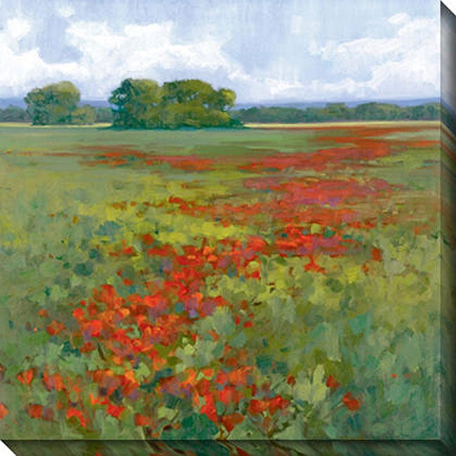 Gallery Direct Kim Coulter 'Red Poppies I' Giclee Canvas Art