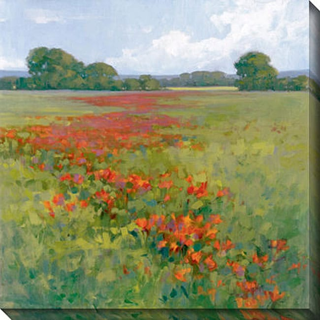 Gallery Direct Kim Coulter 'Red Poppies II' Giclee Canvas Art