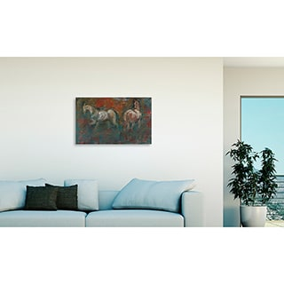 Gallery Direct Maeve Harris 'Paddock I' Oversized Canvas Art