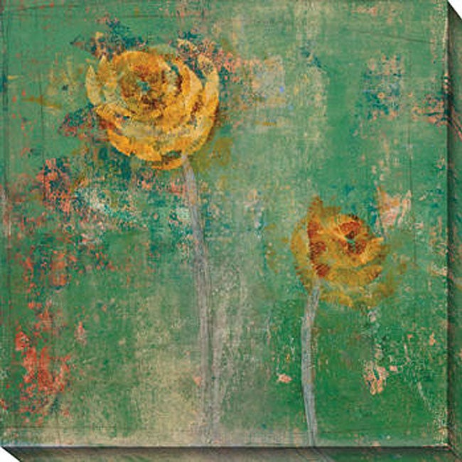 Gallery Direct Maeve Harris 'Green Floral I' Oversized Canvas Art