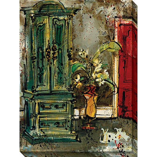 Gallery Direct Olivia Maxweller 'The Red Door' Oversized Canvas Art - Thumbnail 0