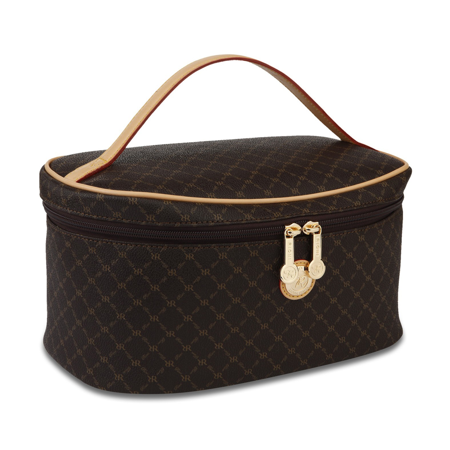 Rioni Signature Cosmetic Carrier (Brown)