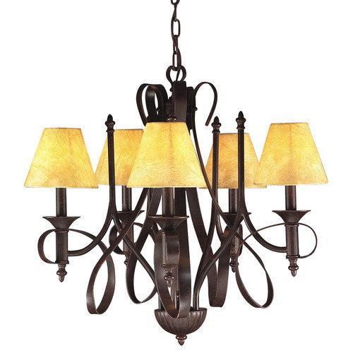 Tannery Bronze 5-light Chandelier