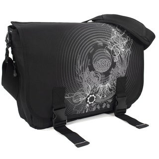 DadGear Messenger Diaper Bag, Concentric Circles