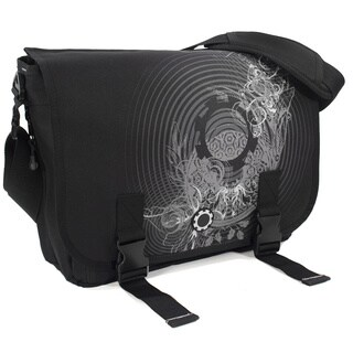 DadGear Messenger Diaper Bag, Concentric Circles