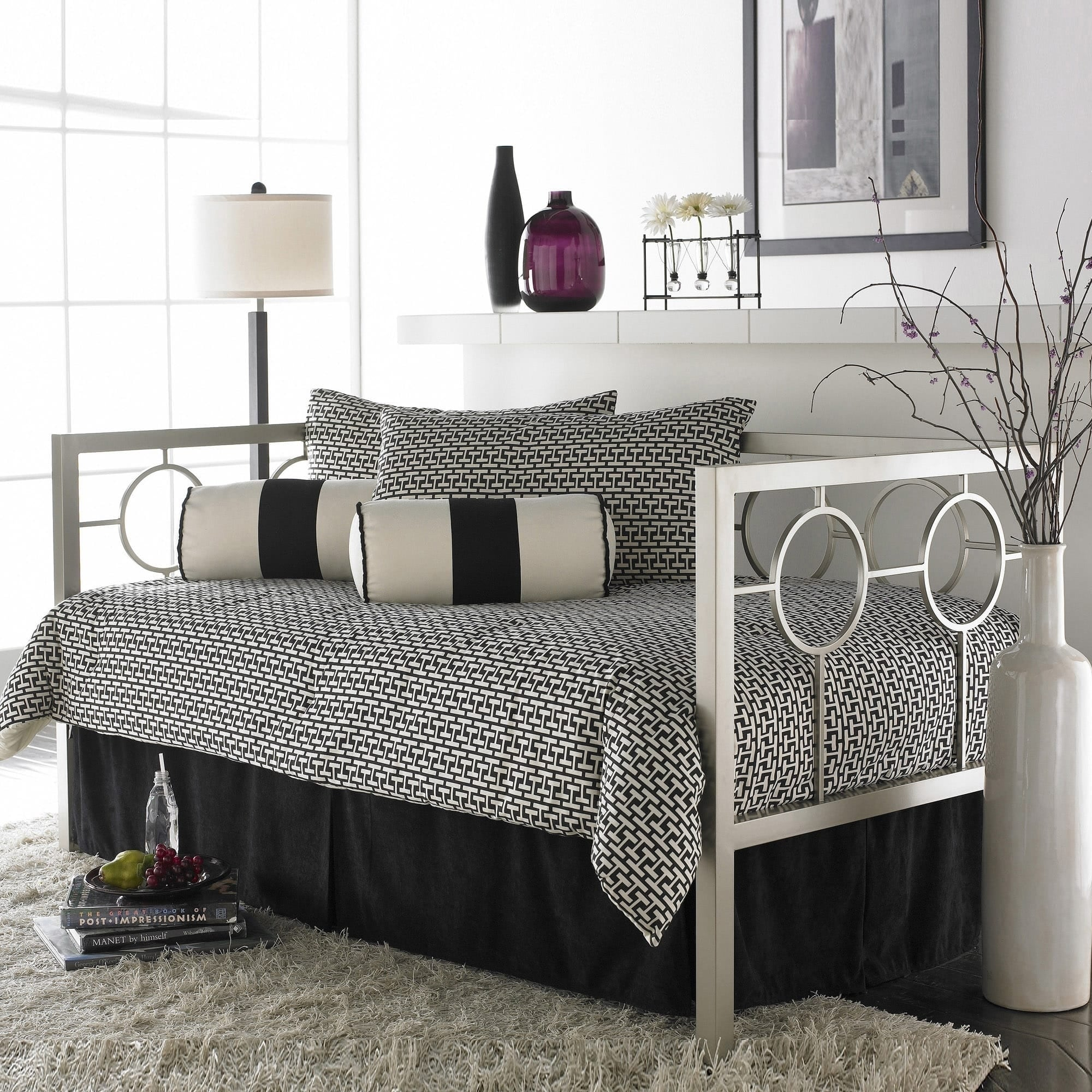Fashion Bed Group Astoria Steel Daybed (Off-White - Twin ...