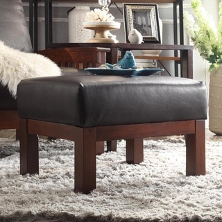 TRIBECCA HOME Hills Faux Leather Ottoman