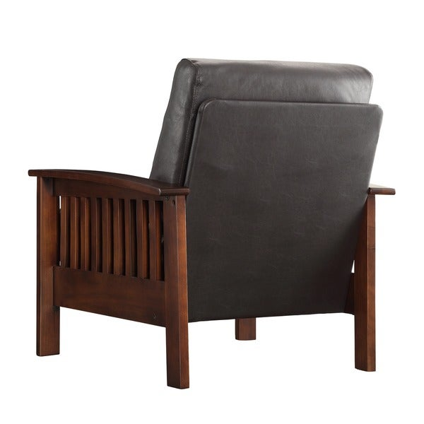Hills Mission-Style Oak Accent Chair by iNSPIRE Q Classic - Free Shipping Today - Overstock.com - 11947568  sc 1 st  Overstock.com & Hills Mission-Style Oak Accent Chair by iNSPIRE Q Classic - Free ... islam-shia.org