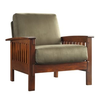 Hills Mission-Style Oak Accent Chair by TRIBECCA HOME