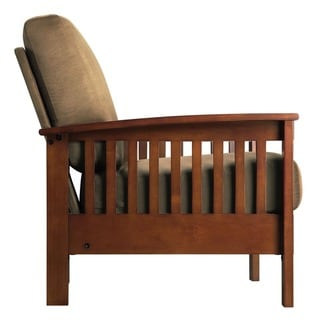 Tribecca Home Hills Mission-Style Oak Accent Chair