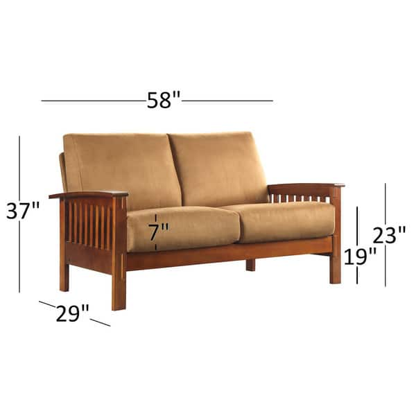 Super Shop Hills Mission Style Oak Loveseat By Inspire Q Classic Caraccident5 Cool Chair Designs And Ideas Caraccident5Info