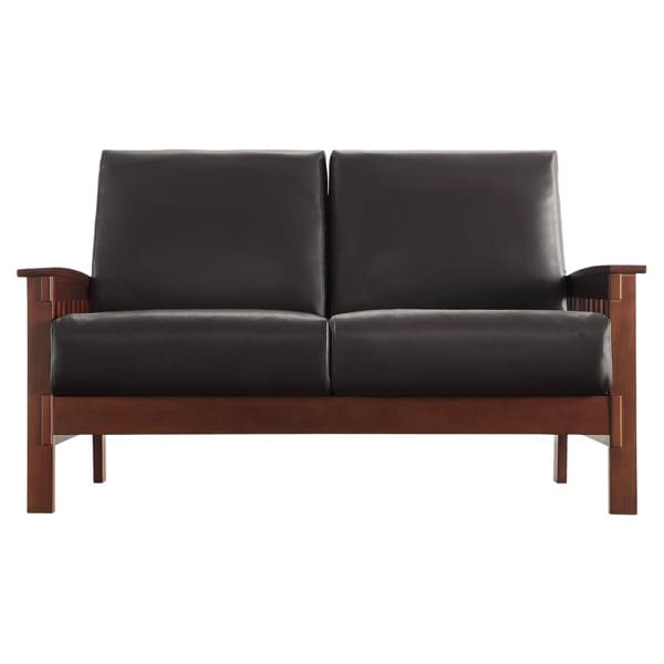 Hills Mission Style Oak Loveseat By INSPIRE Q Classic   Free Shipping Today    Overstock.com   11947579