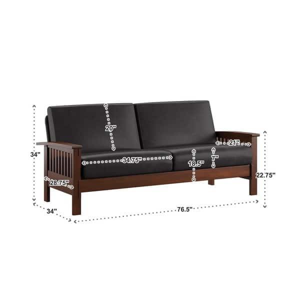 Stupendous Shop Hills Mission Style Oak Sofa By Inspire Q Classic On Creativecarmelina Interior Chair Design Creativecarmelinacom