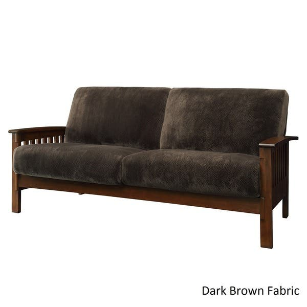 Shop Hills Mission-style Oak Sofa by iNSPIRE Q Classic - On ...