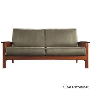 Hills Mission Style Oak Sofa By Inspire Q Clic
