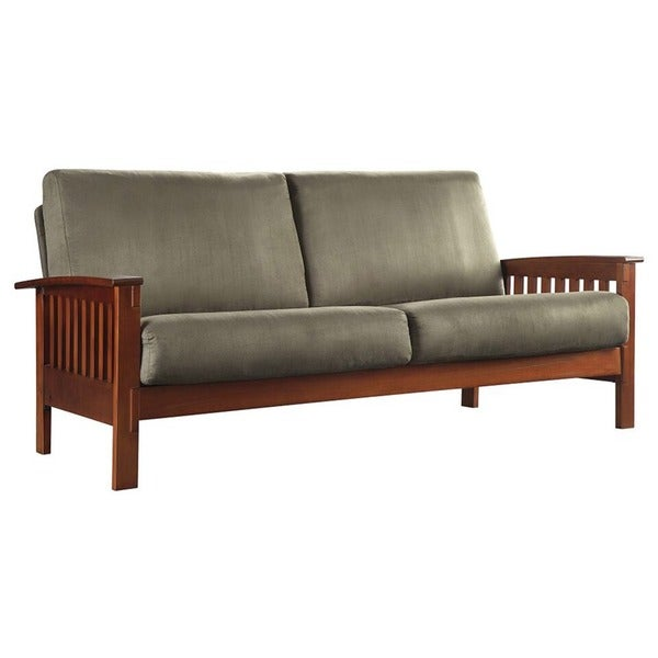 Amazing Hills Mission Style Oak Sofa By INSPIRE Q Classic   Free Shipping Today    Overstock.com   11947580