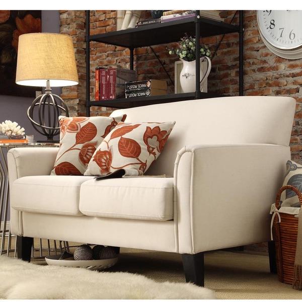 Modern Tailored Upholstered Loveseat