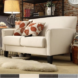 Modern Tailored Upholstered Loveseat