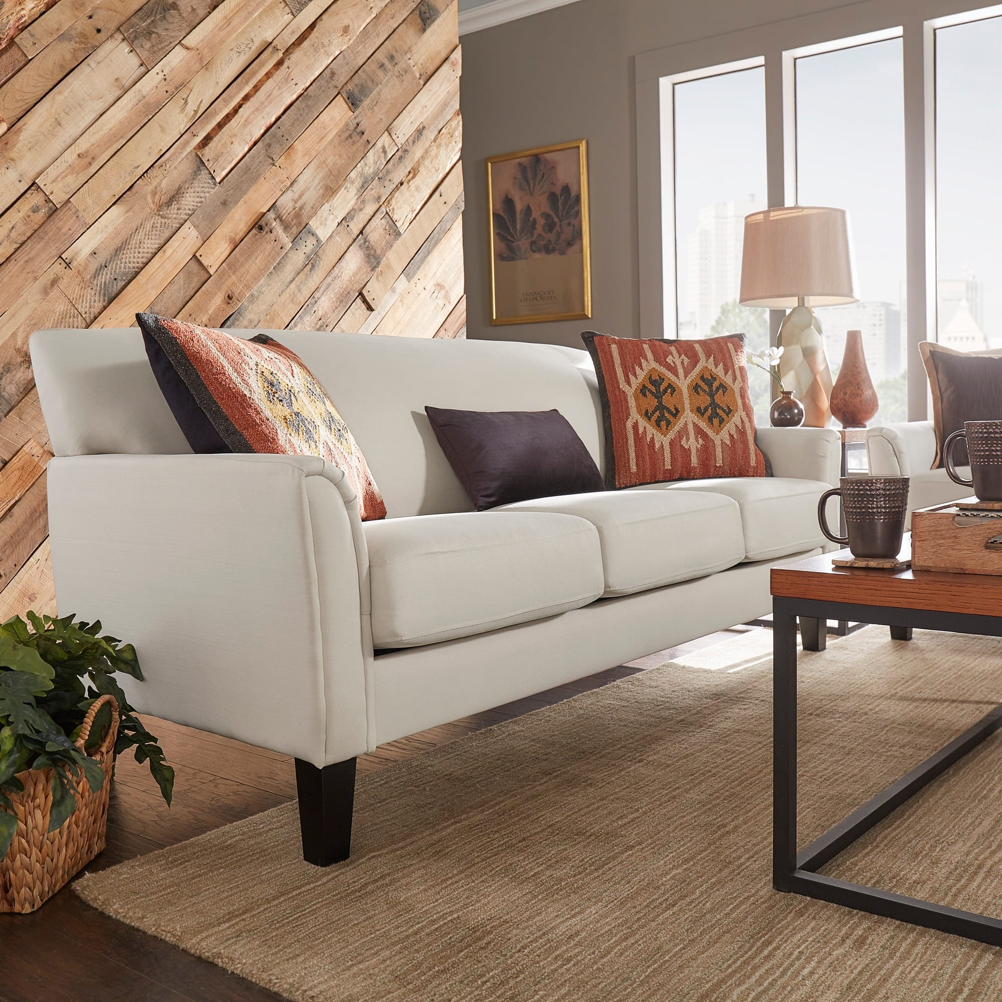 Inspire Q Andorra Velvet And Faux Alligator Leather Dining: Sofas & Couches For Less