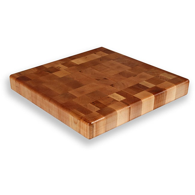 Maple end grain inch square chopping block free