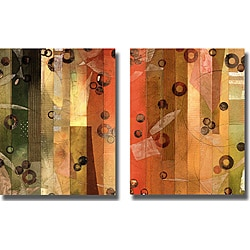 Aleah Koury 'Of This World X and XI' 2-piece Canvas Art Set - Brown/Green - Thumbnail 0