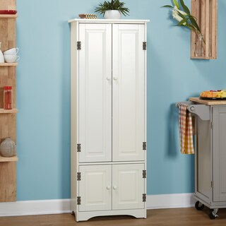 Simple Living Extra-tall Cabinet (Option: Weathered White)