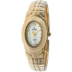 Peugeot Women's Goldtone Hinged Bangle Watch