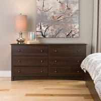 Laurel Creek Easton Espresso 6-drawer Dresser