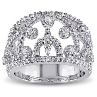 Miadora Signature Collection 18k White Gold 1 1/10ct TDW Diamond Ring|https://ak1.ostkcdn.com/images/products/3912808/P11950634.jpg?impolicy=medium
