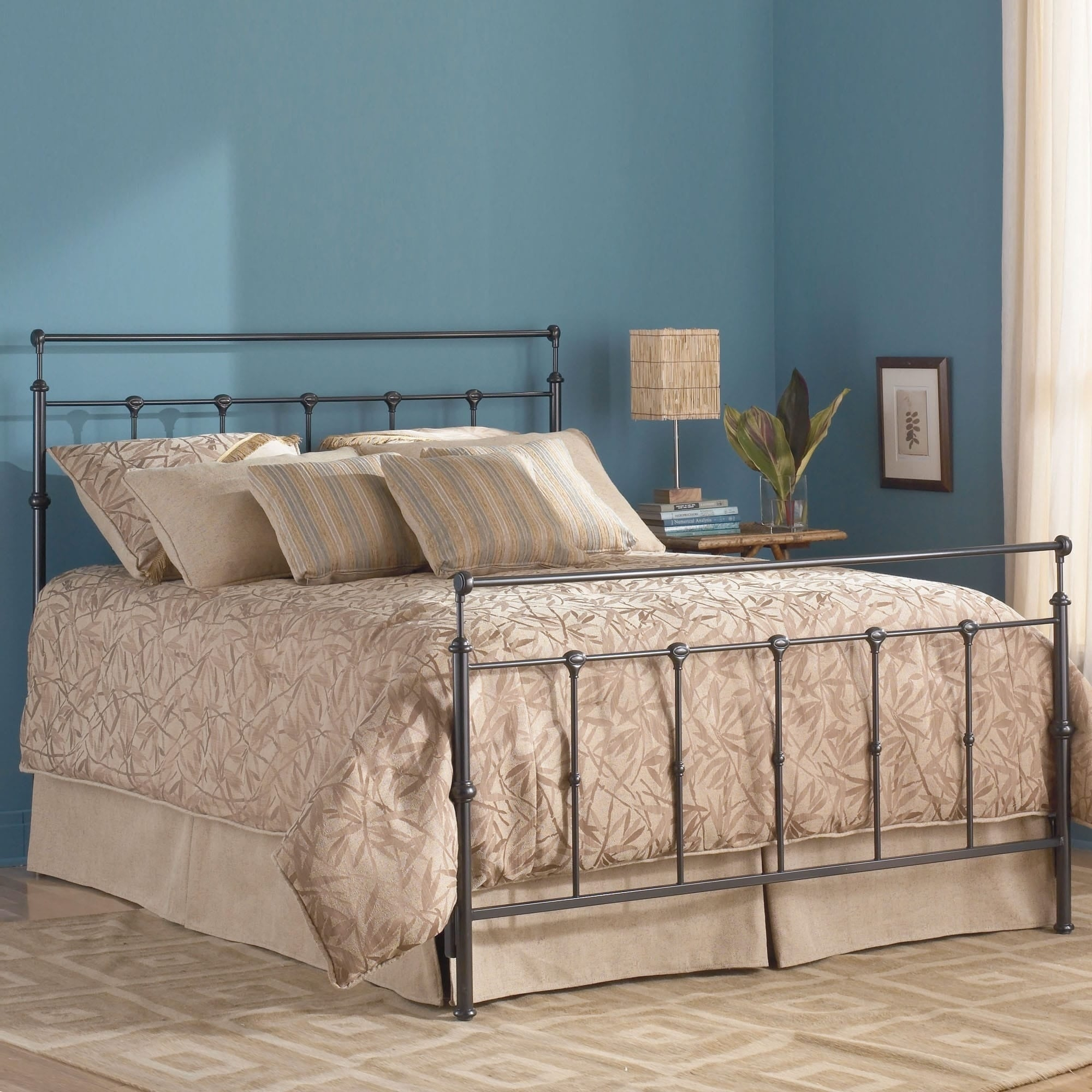 Fashion Bed Winslow Complete Bed with Metal Panels and Al...