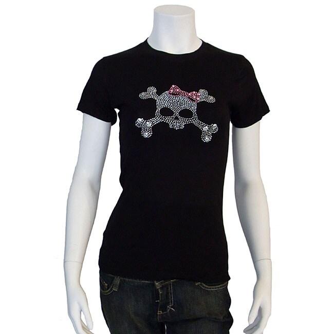 Los Angeles Pop Art Women's Rhinestone Skull T-shirt