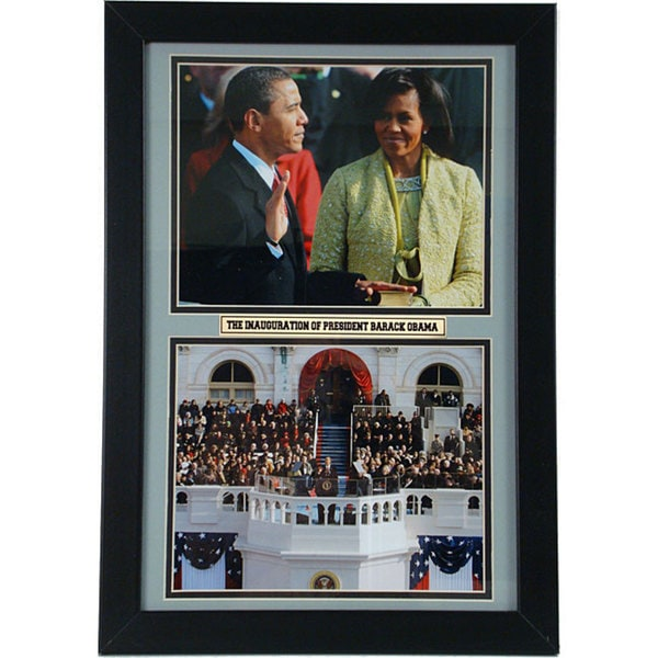 Barack and Michelle 12x18 Framed Double Print