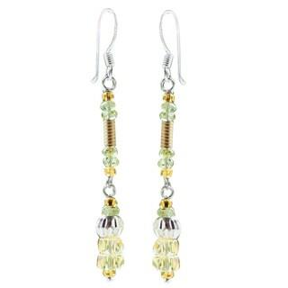24k Gold 'Sweet Beauty' Citrine/ Peridot Earrings (Thailand)