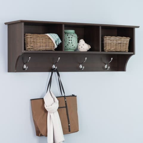 Everett Espresso Entryway Cubbie Shelf - N/A