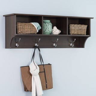 Everett Espresso Entryway Cubbie Shelf