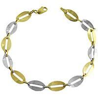 Fremada 14k Two-tone Gold Half-round Link Bracelet