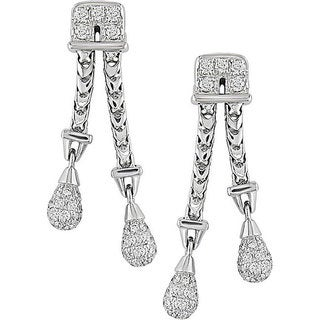 Miadora Signature Collection 18k Gold 1 1/5ct TDW Diamond Teardrop Earrings