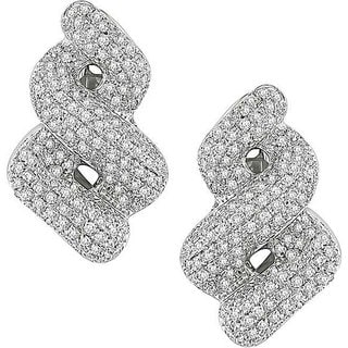 Miadora Signature Collection 18k White Gold 3 3/5ct TDW Diamond Earrings