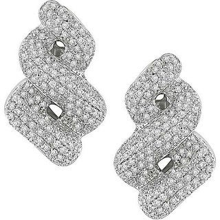 Miadora Signature Collection 18k White Gold 3 3/5ct TDW Diamond Earrings